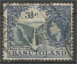 BASUTOLAND, 1962, used 31/2c, Basuto house  Scott 76