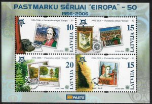 Latvia MNH S/S 637 Europa Stamps On Stamps 2006