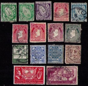 Ireland Sc #65-76 Not A Complete Set (1922) BATCH LOT OF 15 STAMPS USED F-VF