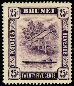 BRUNEI SG43, 25c dp lilac, M MINT. Cat £11.