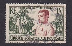 French Equatorial Africa   #187  used 1954  Cureau