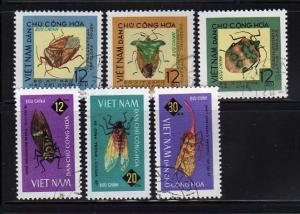 North Vietnam 360-365 Set U Insects (C)