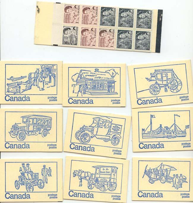 Canada -1972 50c Tagged Booklets Set of 10 Booklets #BK71d