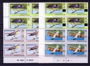 Anguilla 1980 Birds ovpt.Separation1980 (4) Block of 4 MNH