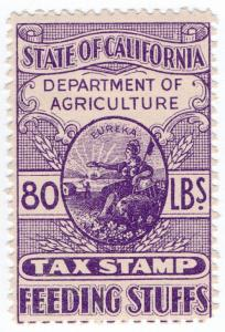 (I.B) US Revenue : California Feeding Stuffs Tax 80lbs