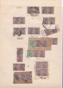 British India Stamps + Cancels on Stamps Page Ref 35865