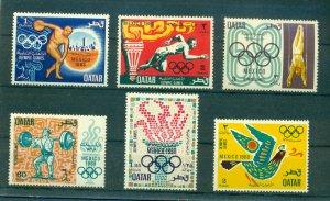Qatar - Sc# 140-5. 1968 Olympics. MNH $28.70.