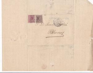 Spain 19th centuary stamps cover Ref 8335