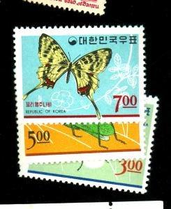 South Korea #499-501 MINT F-VF OG NH Cat $9