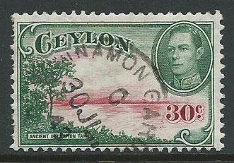 Ceylon SG 393 Fine Used  wmk upright
