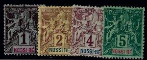 Nossi Be Sc #32-35 Mint F-VF...Nossi Be has crazy upside!