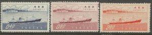 CHINA 1174-1176 NGAI, HINGED, FREIGHTER HAI MIN AND RIVER BOAT KIANG FOO