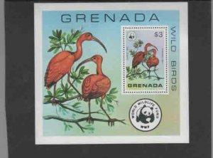 GRENADA #856  1998  WWF, WILD BIRDS   MINT  VF NH  O.G