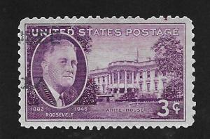 SC# 932 - (3c) - FDR & White House, Used Single