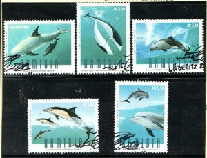 2006   NAMIBIA  -  SG: 1027/31  -  DOLPHINS  -  USED