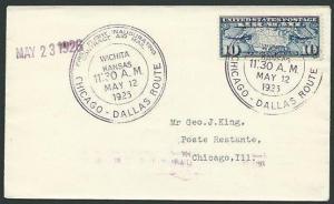 USA 1926 first flight cover Wichita - Chicago....................38667