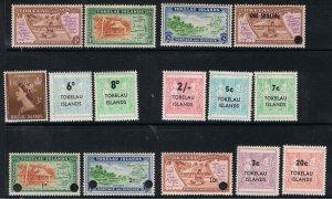 TOKELAU 1948 - 67 DEFINITIVES