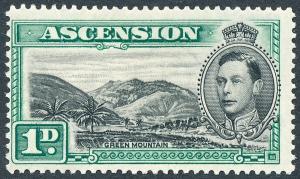 1938 Ascension 1d Black & Green SG39 MLH
