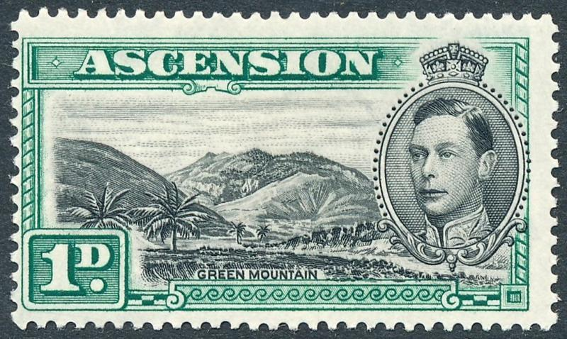 1938 Ascension 1d Black & Green SG39 MLH