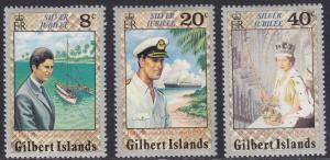 Gilbert  Islands 293-295 Reign of Oueen Elizabeth, II, 1977