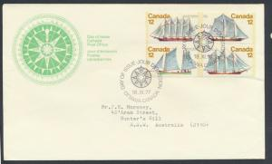 FDC  SG 902a block of 4 SC# 747a SPECIAL - please read details - Ships