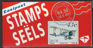South Africa Scott 849 Complete Booklet Planes!