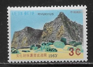 Ryukyu Islands 115 1963 Cultural Treasures single MNH