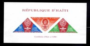 Haiti  Scott C190a MNH** WHO Anti-Malaria airmail souvenir sheet