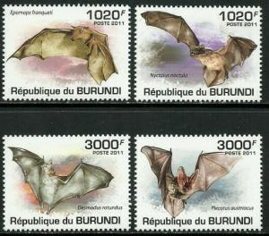 Burundi #837-40 MNH Set - Bats