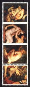 PARAGUAY 1987 ,ART,PAINTINGS,NUDES,RUBENS Mi 4084-7,MNH