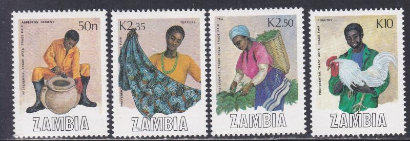 Zambia 444 447 Trade Fair Handicrafts Chichen Nh 1 2 Cat
