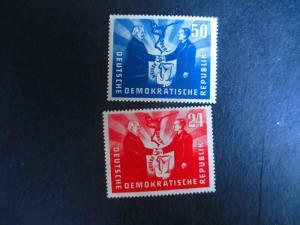 Germany DDR #80-81 Mint Hinged- (EZ9) WDWPhilatelic!