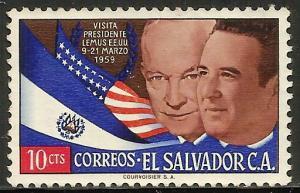 El Salvador 1959 Scott# 705 Used