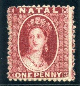Natal 1863 QV 1d carmine-red MLH. SG 19.