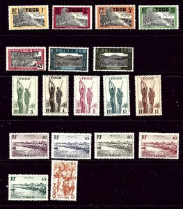Togo #7 18 Different unused stamps all older