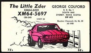 QSL QSO RADIO CARD The Little Zder/XM64-6001, Sydney, Nova Scotia, (Q1067)