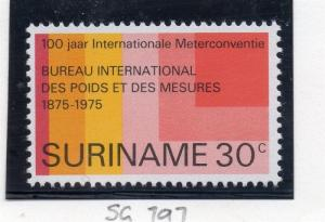 Suriname 1975 Early Issue Fine Mint Hinged 30c. 169028