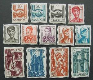 Germany, Saar, Scott 188-200, Mint set