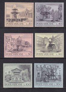 Vatican City MNH 573-8 Fountains 1975