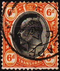 Transvaal. 1902 6d S.G.266a Fine Used