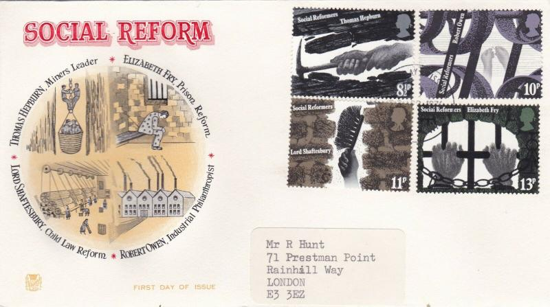 GB 1976 Social Reform Stuart FDC London CDS VGC