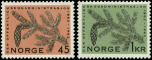 Norway Scott #406 - #407 Complete Set of 2 Mint Never Hinged