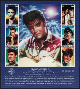 Micronesia 20th Death Anniversary of Elvis Presley entertainer 6v Sheetlet