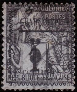 Guadeloupe Scott 6 (1889) Used F, CV $13.50