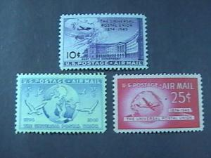 U.S.# C42-C44-MINT/NEVER HINGED----AIR-MAIL-----1949