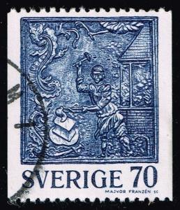 Sweden #1213 Cast-Iron Stove Decoration; Used (0.25)
