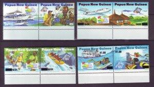 J21899 Jlstamps 1995 png set pairs mnh #853a-59a tourism
