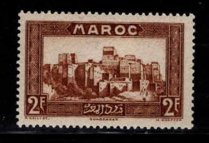 French Morocco Scott 143 MH* 2F stamp