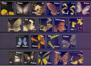 palau 2007 butterflies insects set 20v MNH