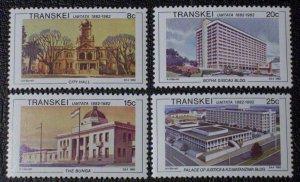 Transkei MNH 113-6 Architecture Umtata Centennial 1982